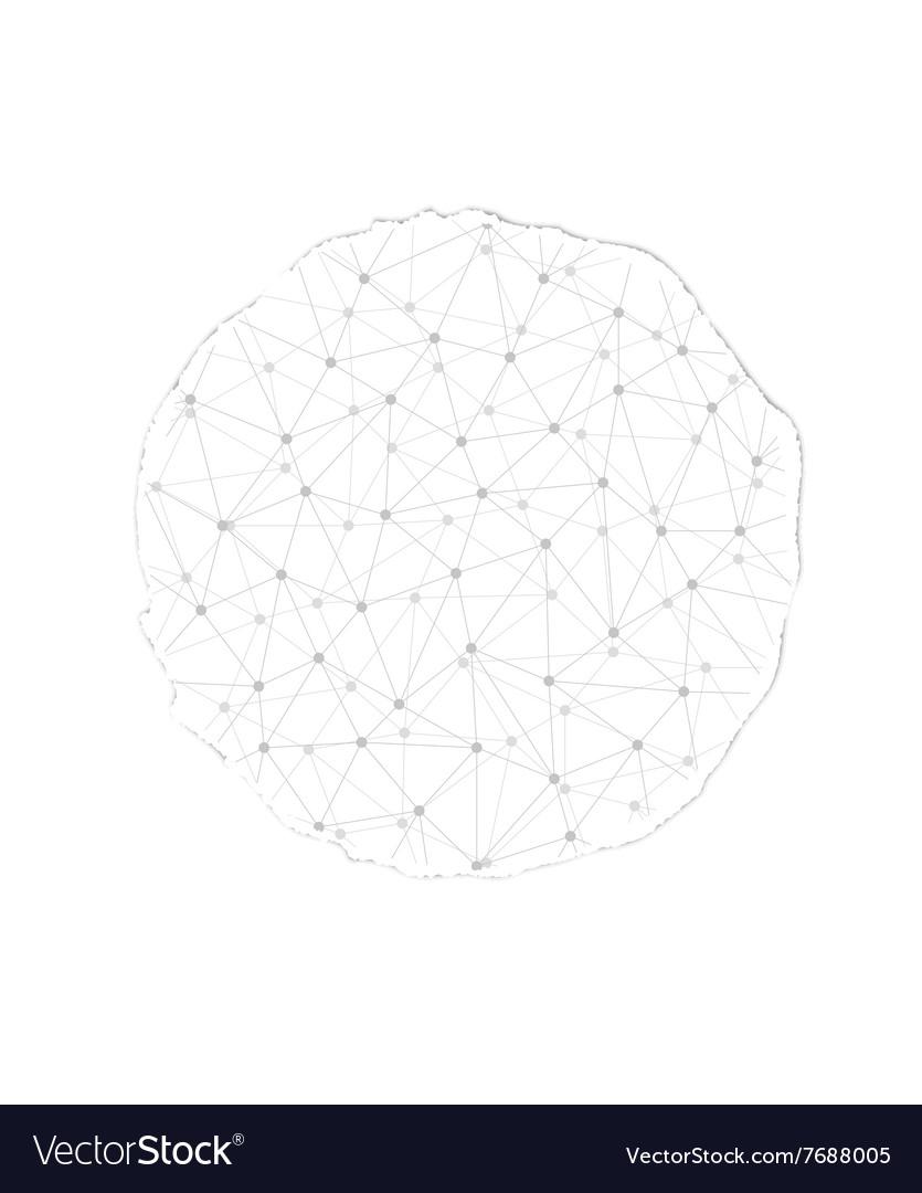 Torn paper circle