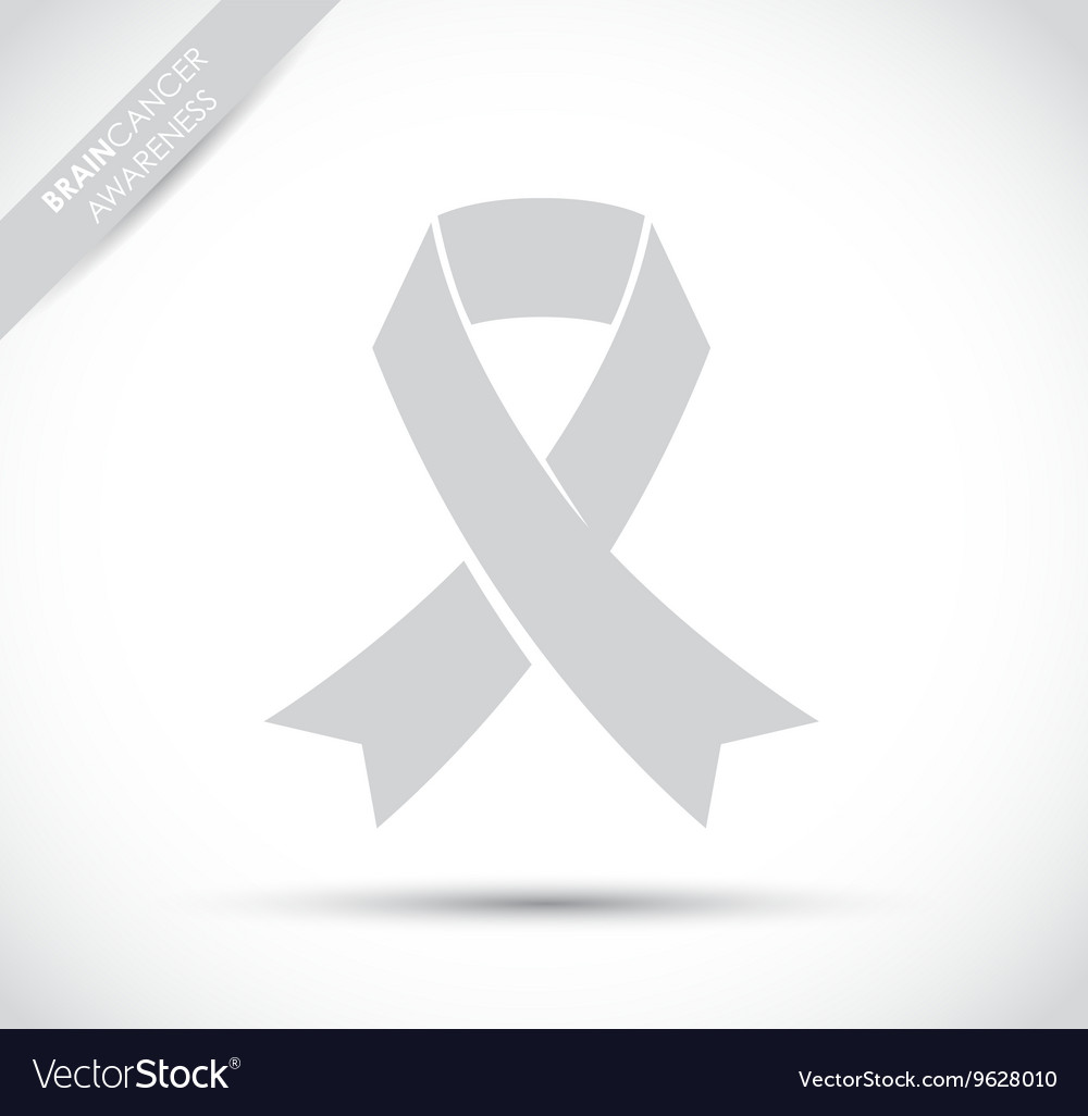 Brain cancer awareness vector image