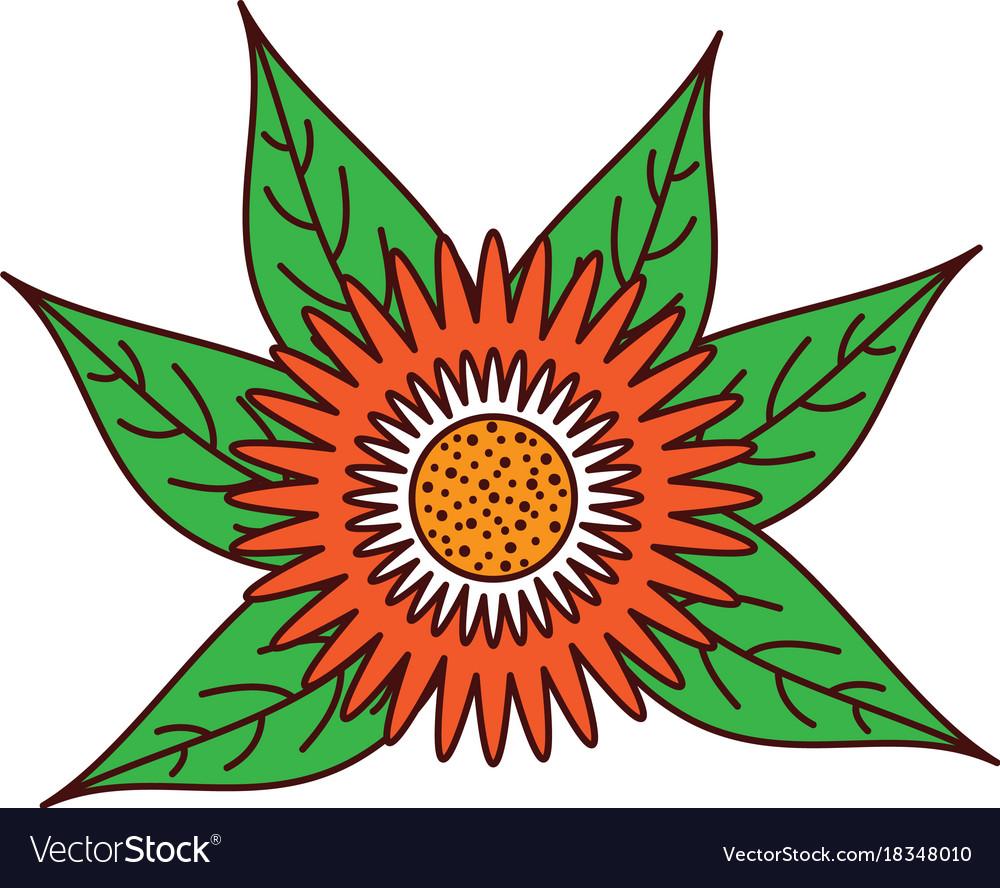 Dahlia flower floral leaves foliage ornament vector image izmirmasajfo