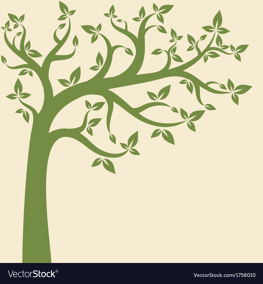 free vector tree vectorstock image decorative decor royalty