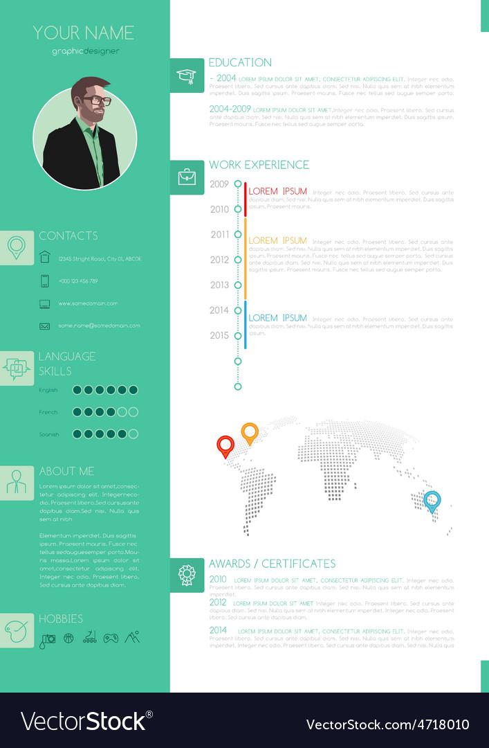 elegant minimalist style resume
