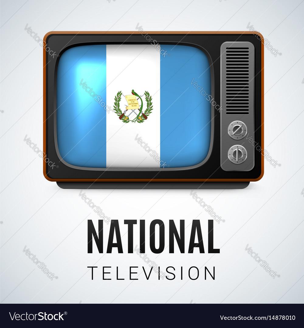 Round glossy icon of guatemala vector image