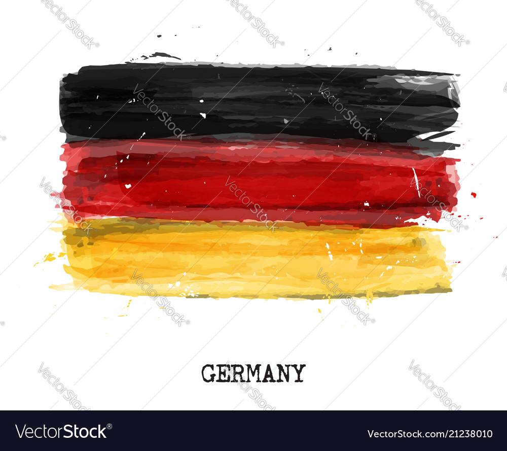 Watercolor painting flag of germany