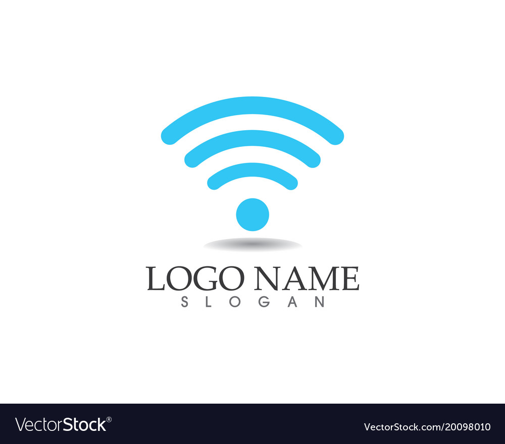 wifi logo template icons app royalty free vector image