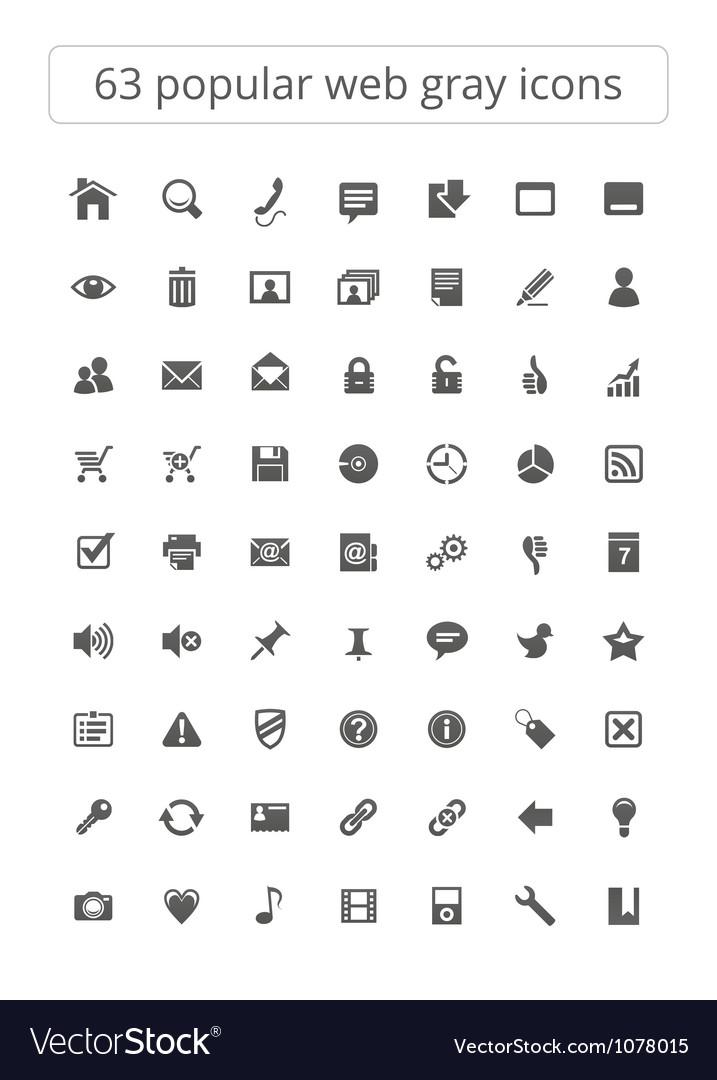 63 popular web gray icons