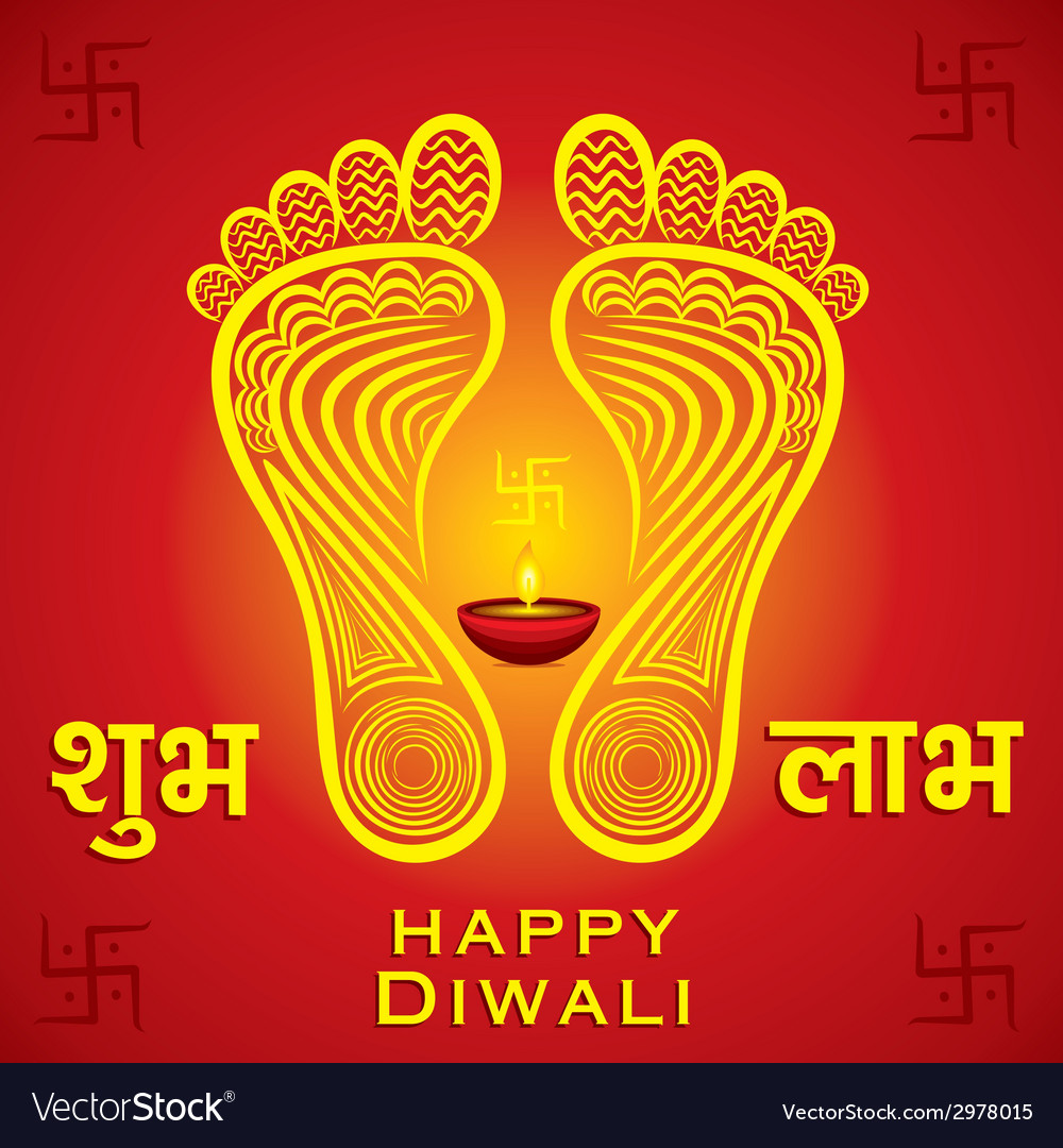 Creative happy diwali greeting card background vector image m4hsunfo
