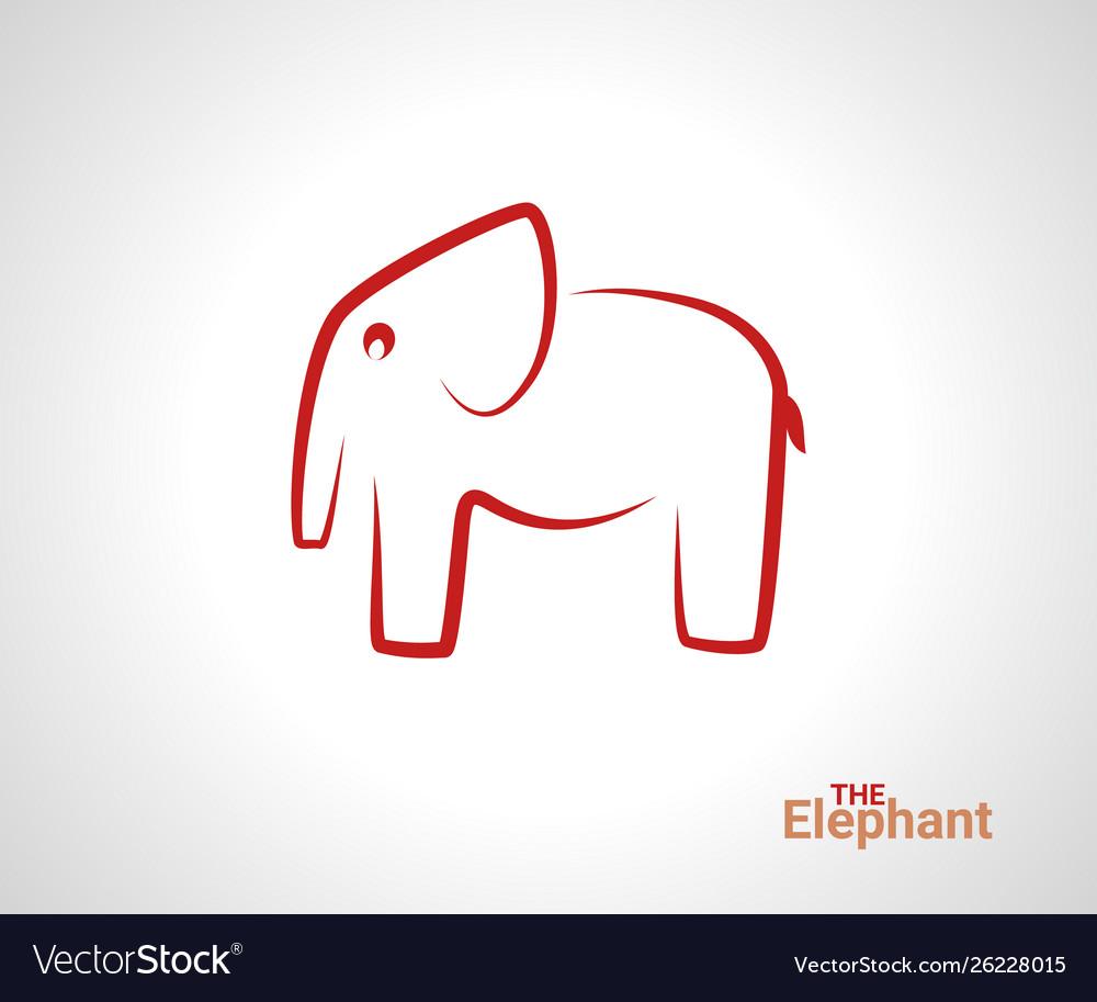 Elephant logo creative linear animal logotype