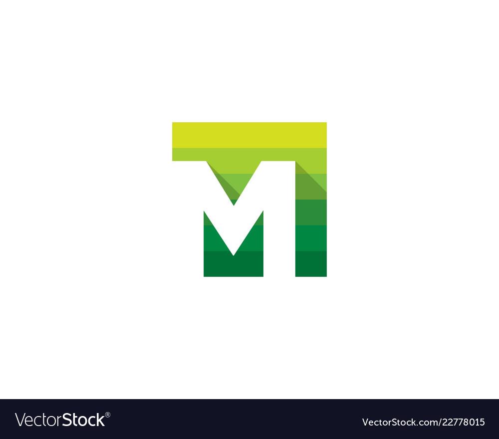 Green letter m logo icon design