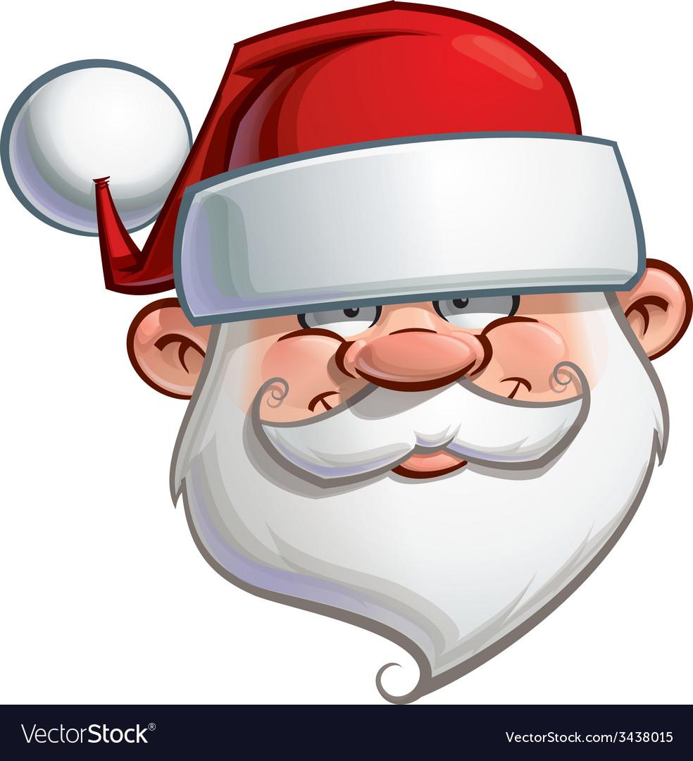 Happy Santa Head vector image