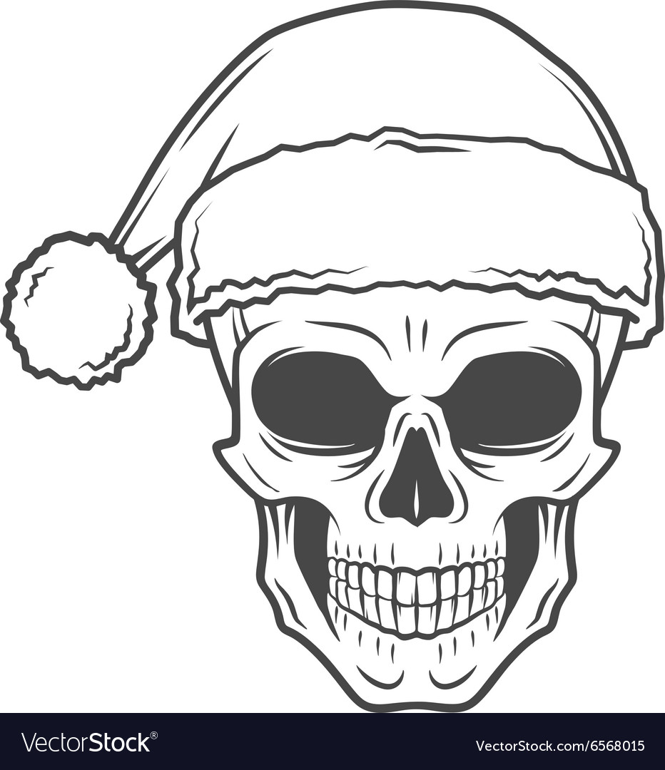 heavy metal christmas design bad santa claus vector image - Heavy Metal Christmas