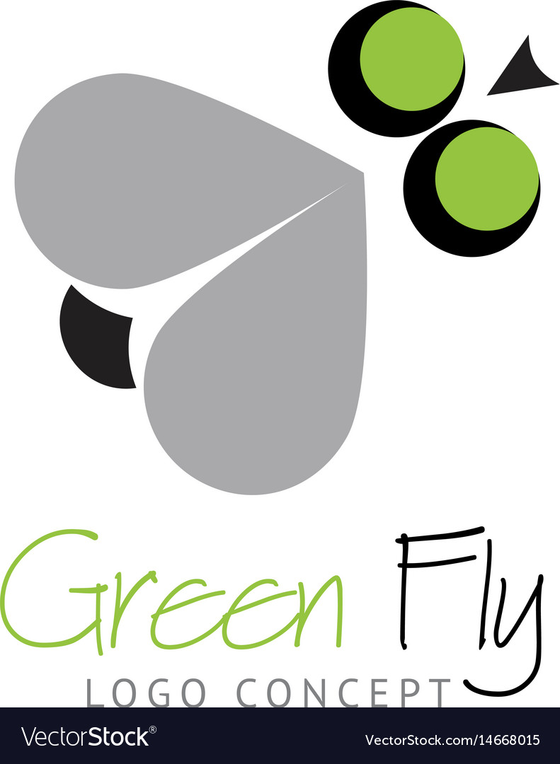 Logo concept - funny fly