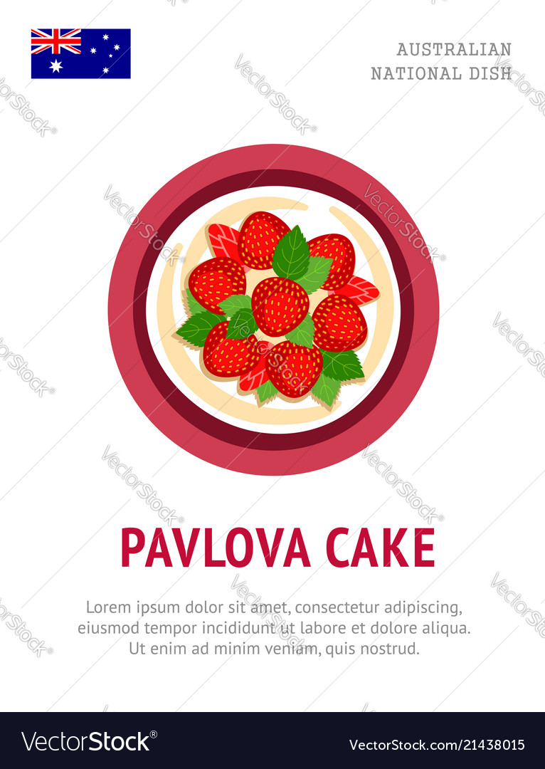Pavlova cake traditional australian dish