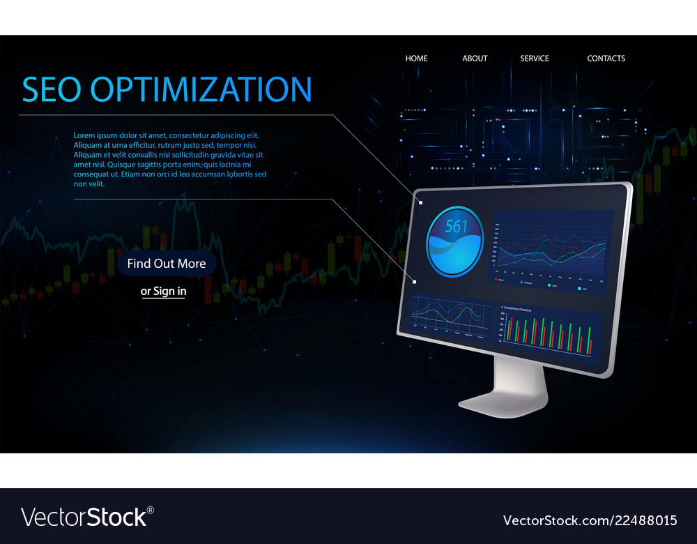 Seo optimization isometric web