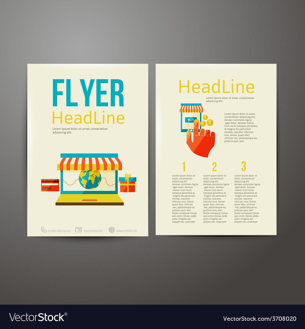 abstract brochure flyer design online payment vector image