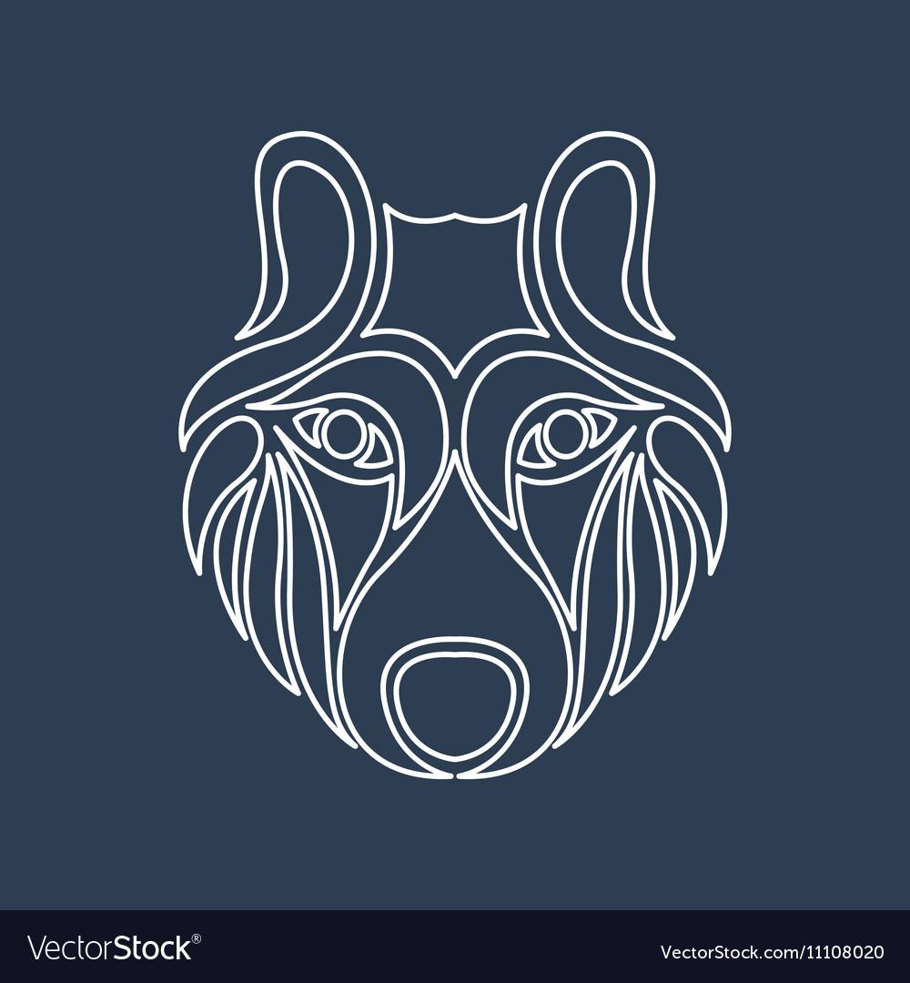 Arctic Wolf Icon vector image