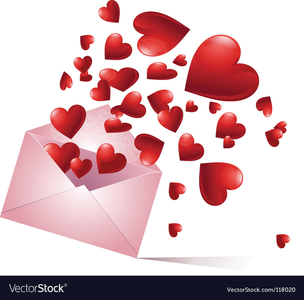 Bursting hearts vector image