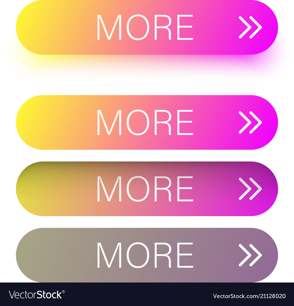 Colorful spectrum more web buttons isolated on