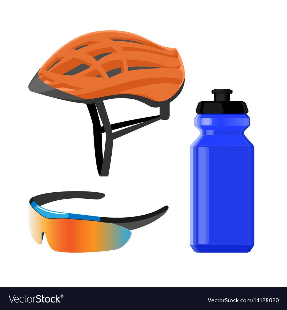 Cycling sportswear helmet plastic drinking bottle