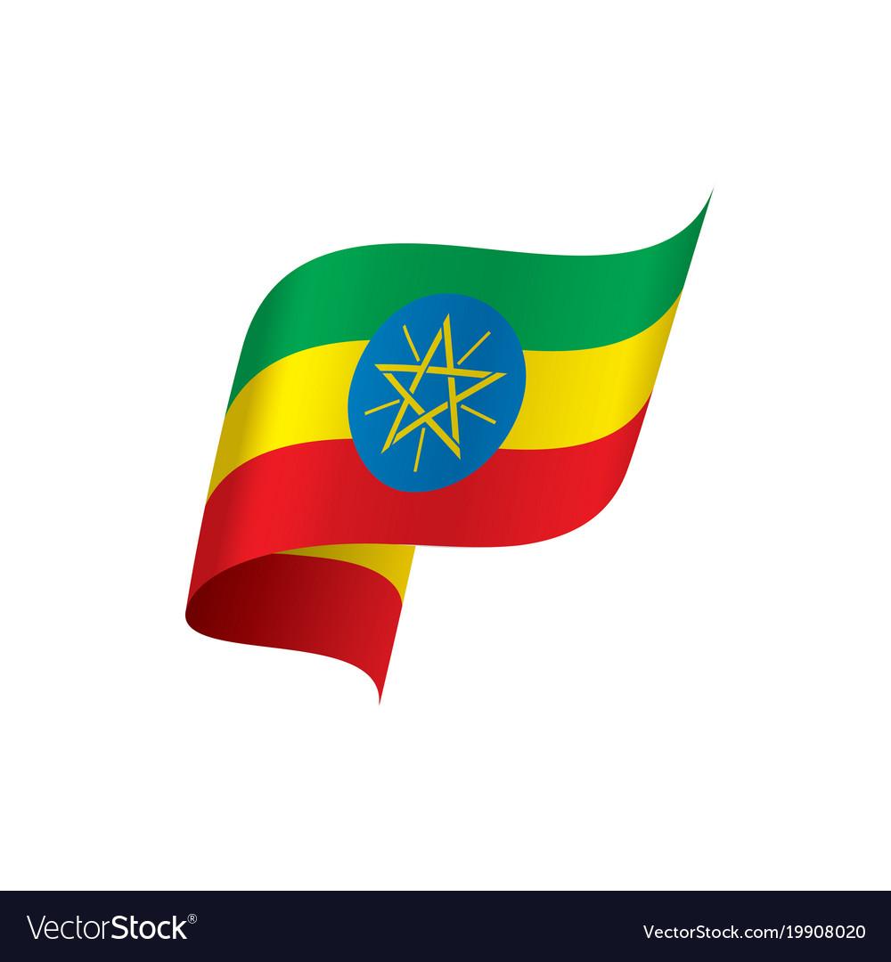 Ethiopia flag Royalty Free Vector Image - VectorStock