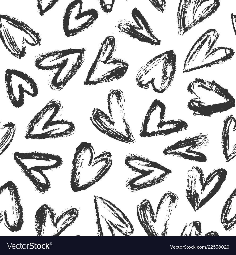 Hand drawn heart background 01