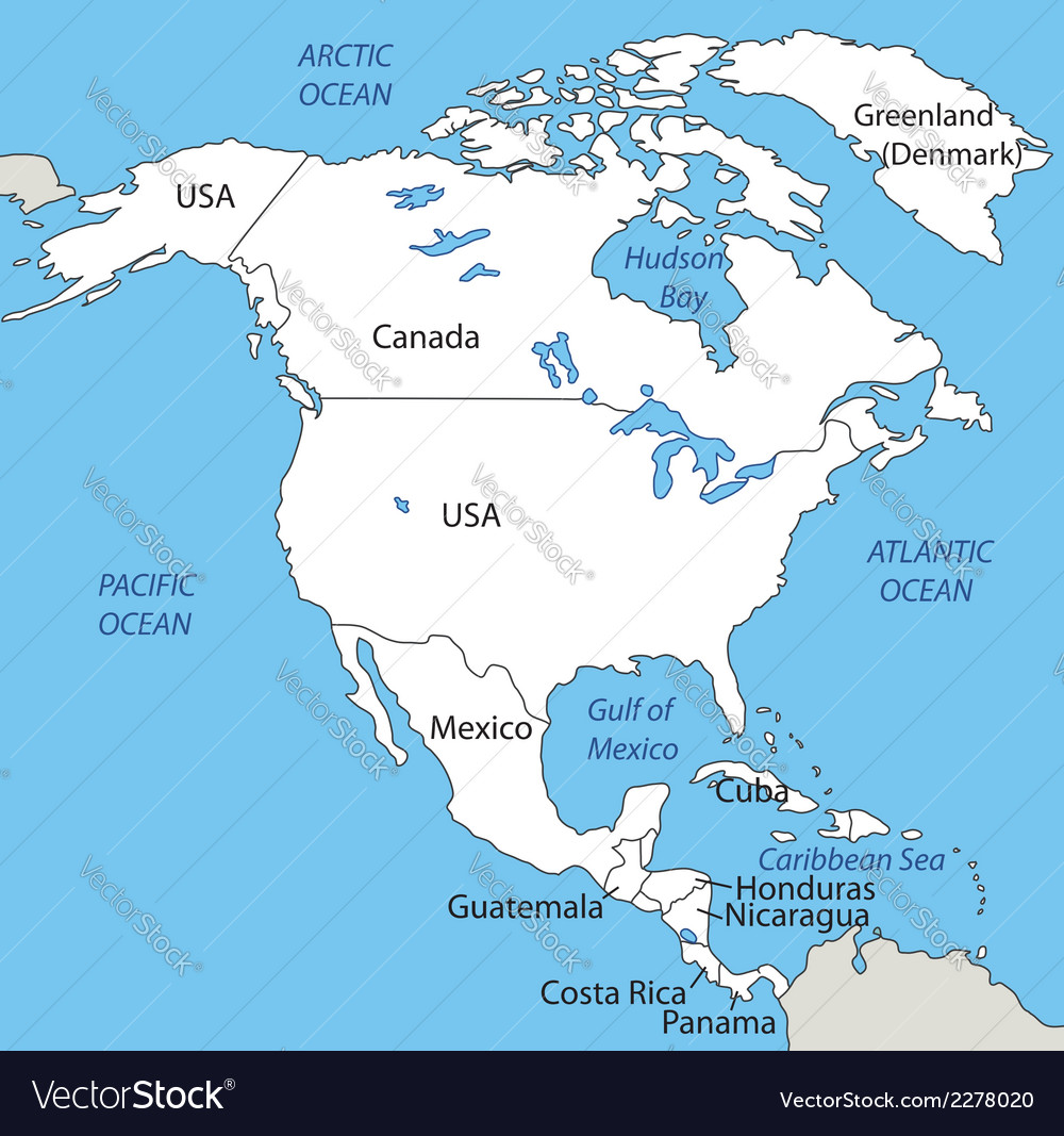 Free North America Map.North America Map Royalty Free Vector Image Vectorstock
