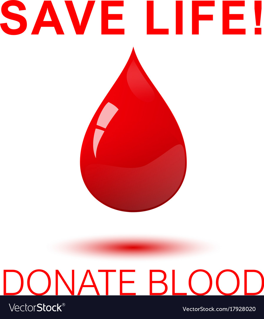 Save life donate blood square concept poster vector image thecheapjerseys Gallery