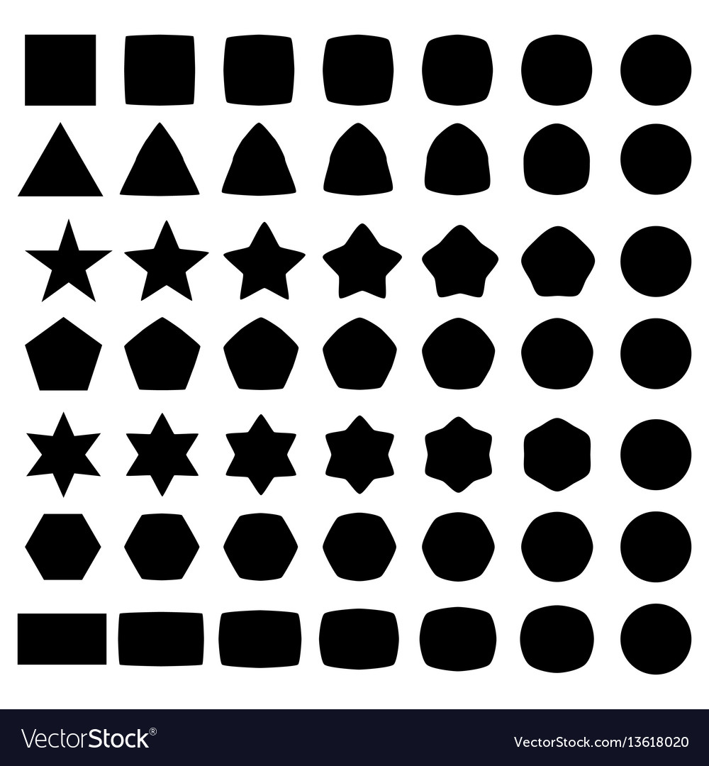Set of geometric shapes elements for logo