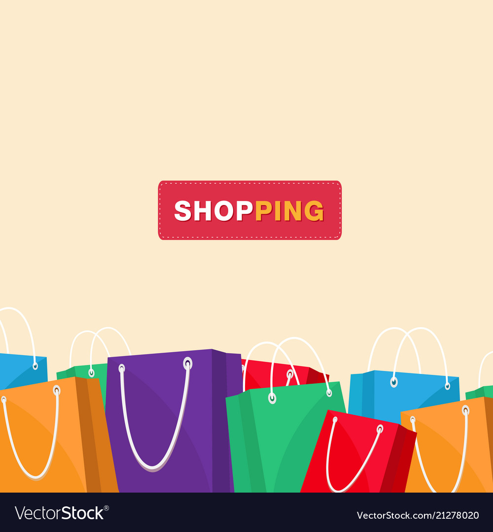 Shopping colorful shopping bag background i