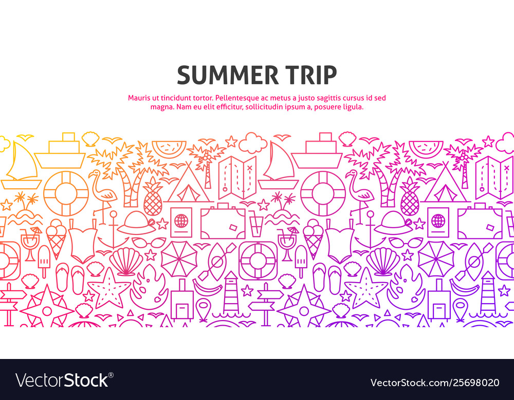Summer trip concept