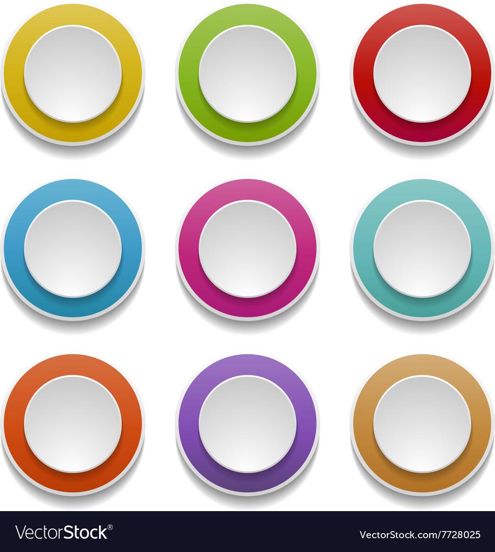 3d round buttons