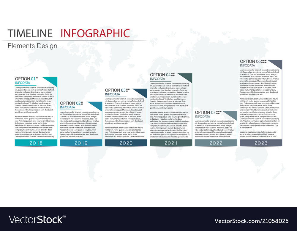 Abstract element timeline infographics design for
