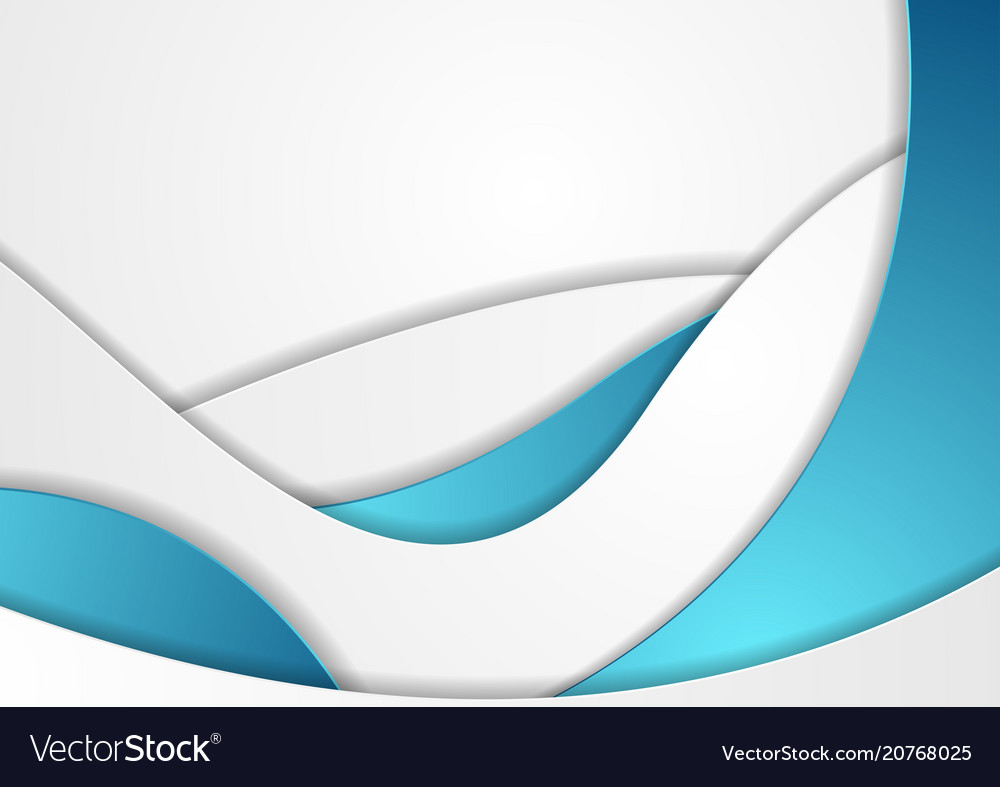 Blue and white abstract corporate waves background vector image