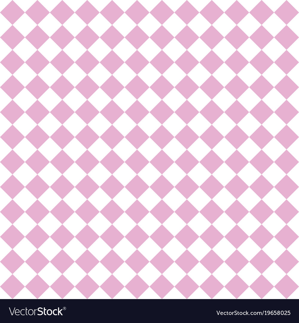Checkered tile pattern or pink and white wallpaper