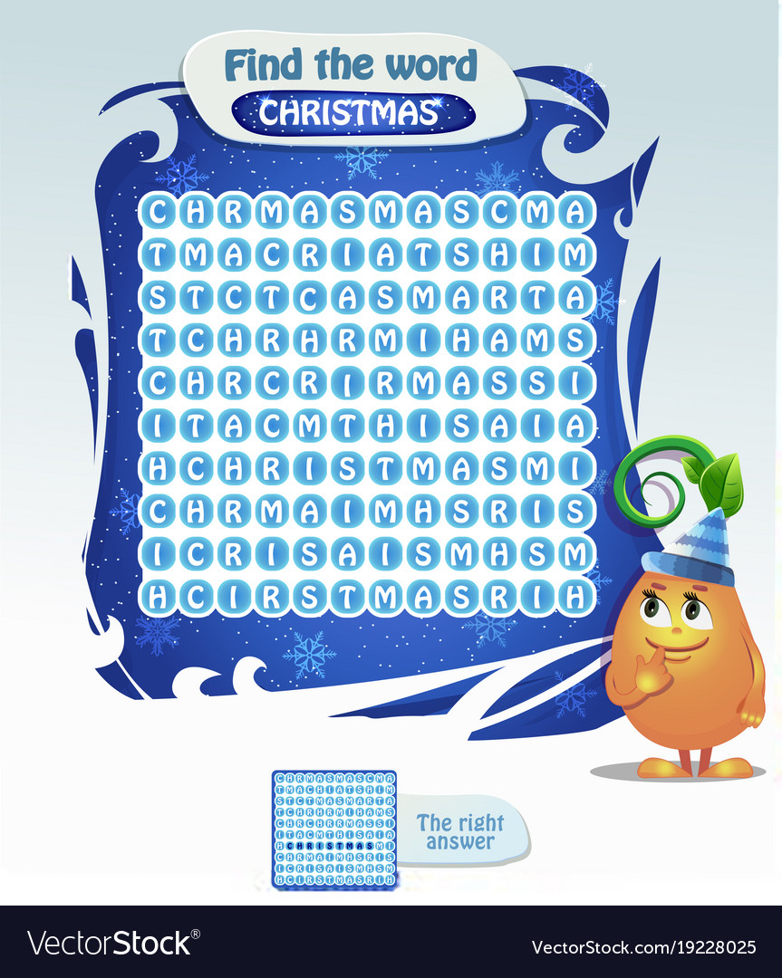 Find the word christmas