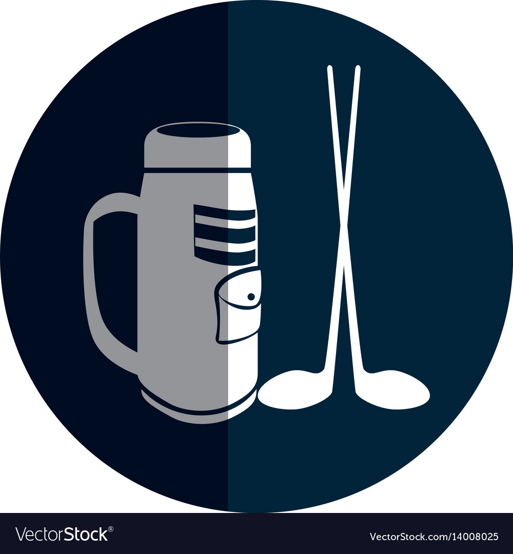 Golf clubs bag isolated icon