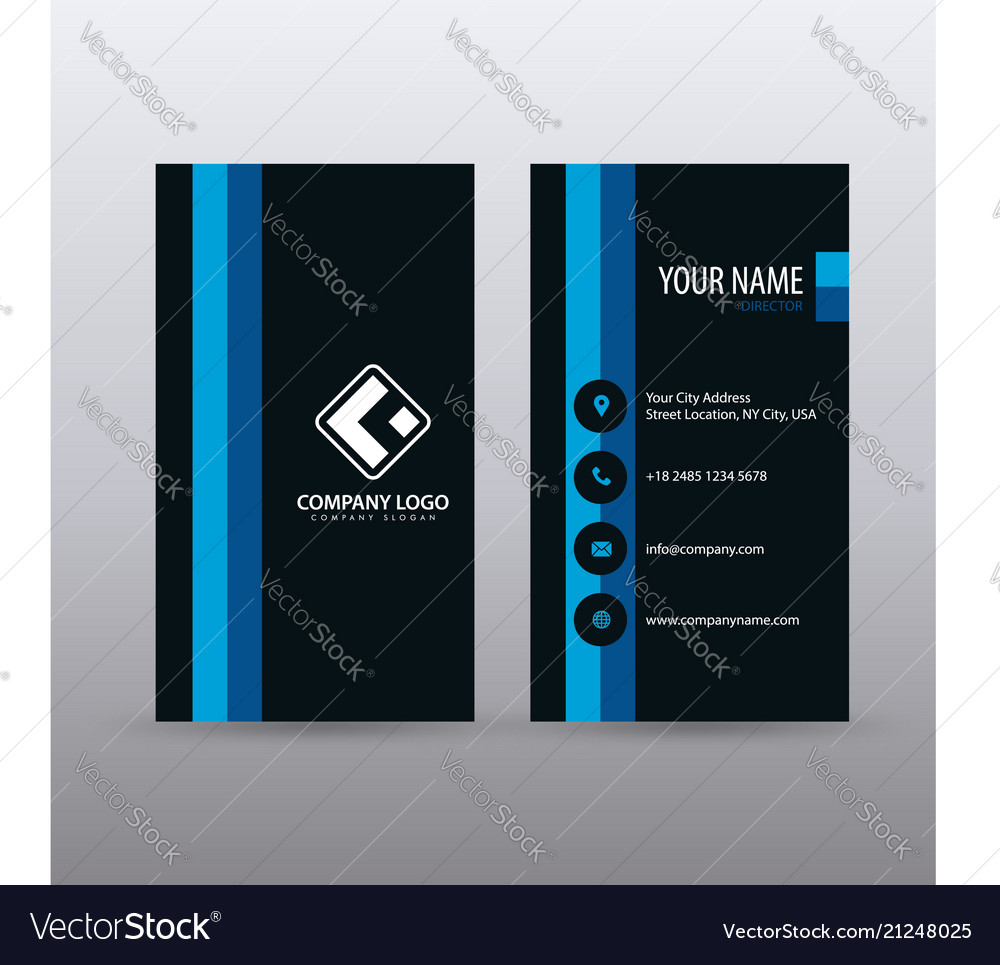 Modern creative vertical clean business card vector image reheart Choice Image