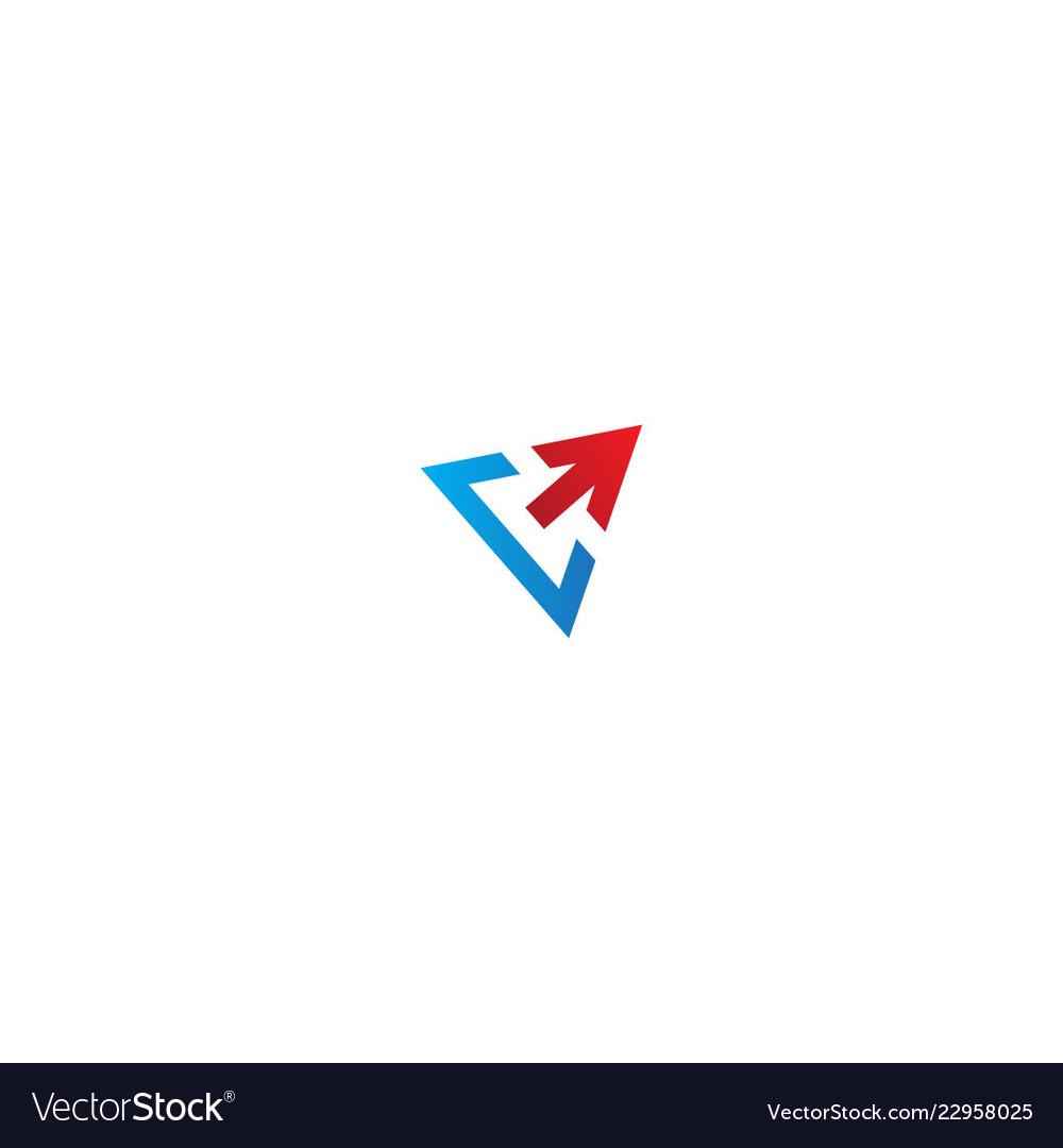 Triangle arrow sign business logo