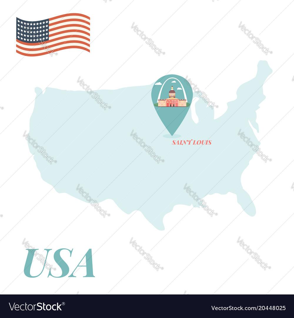 Usa map with saint louis pin travel concept Saint Louis Usa Map on dover map usa, long beach map usa, providence map usa, riverside map usa, birmingham map usa, augusta map usa, salem map usa, manchester map usa, oakland map usa, st. lous map usa, el paso map usa, new haven map usa, hartford map usa, trenton map usa, clarksville map usa, phoenix map usa, austin map usa, little rock map usa, montgomery map usa, omaha map usa,