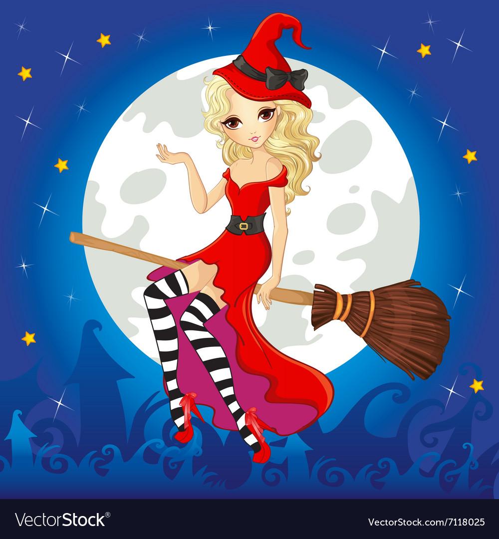 Декоративных открыток, ведьма на метле картинки красивые блондинки
