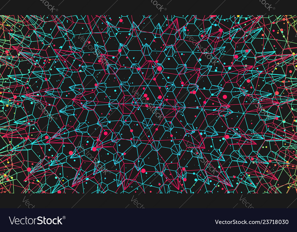 Abstract science technology background 3d grid