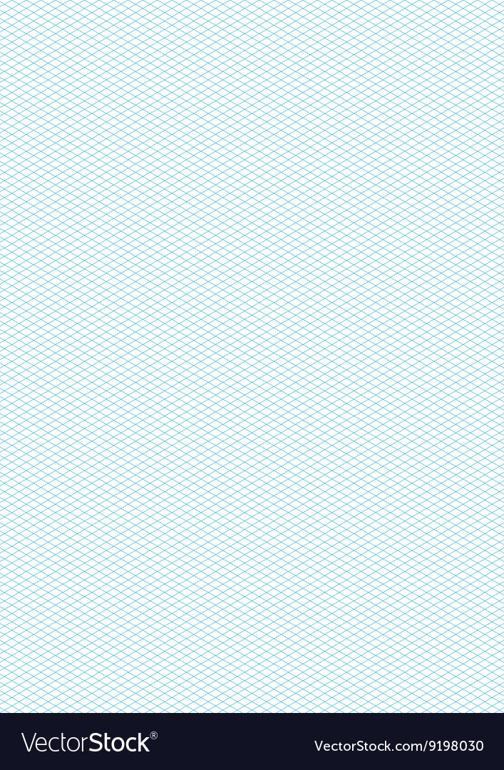 Cyan color isometric grid a4 size vertical