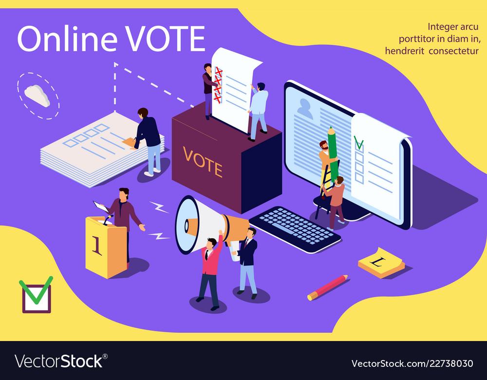 Isometric concept group of people give online