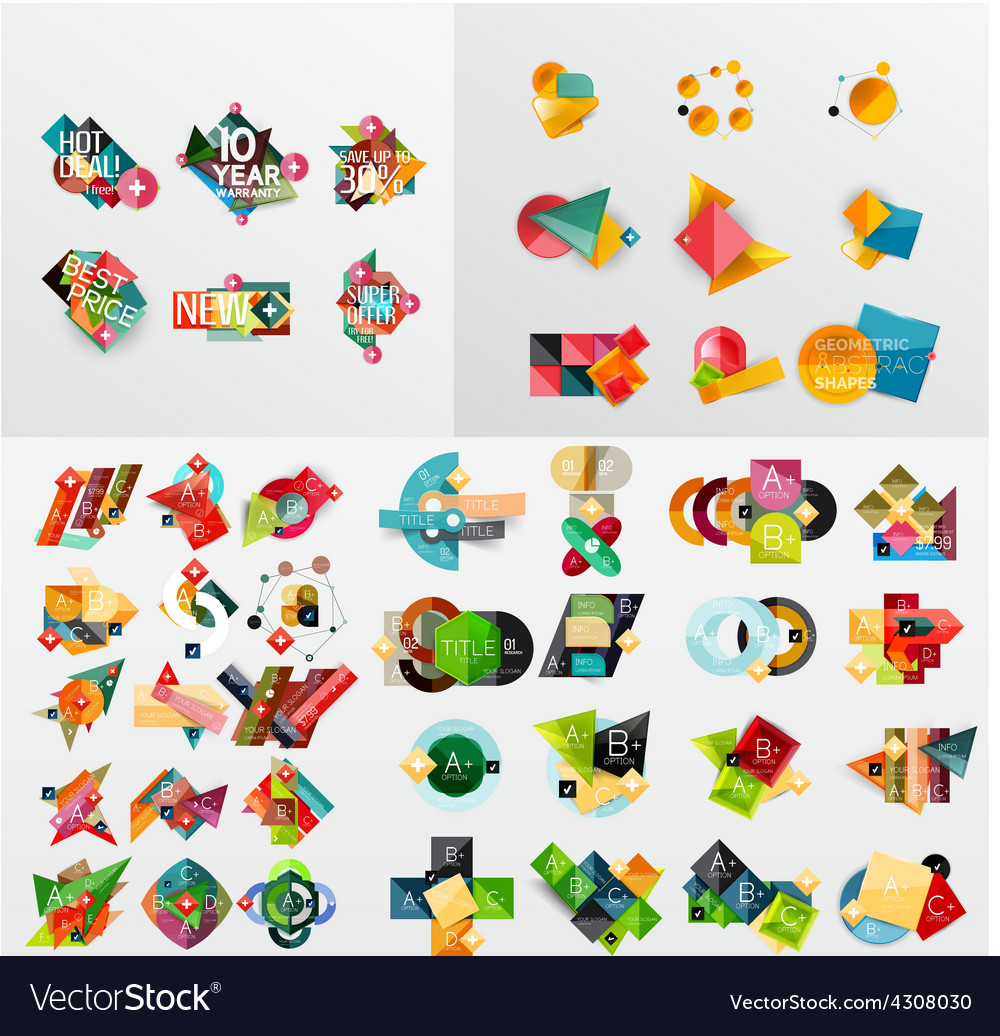 mega-collection-of-paper-graphic-banners-labels-vector-4308030 Ideas For Vector Art Mega Collection Free Download @koolgadgetz.com.info
