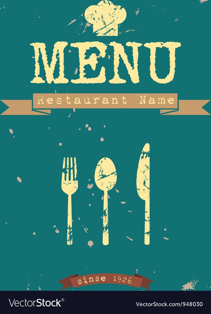 Restaurant Menu Retro Style Design Royalty Free Vector Image