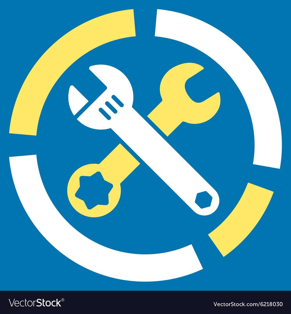 Tools Diagram Icon Royalty Free Vector Image