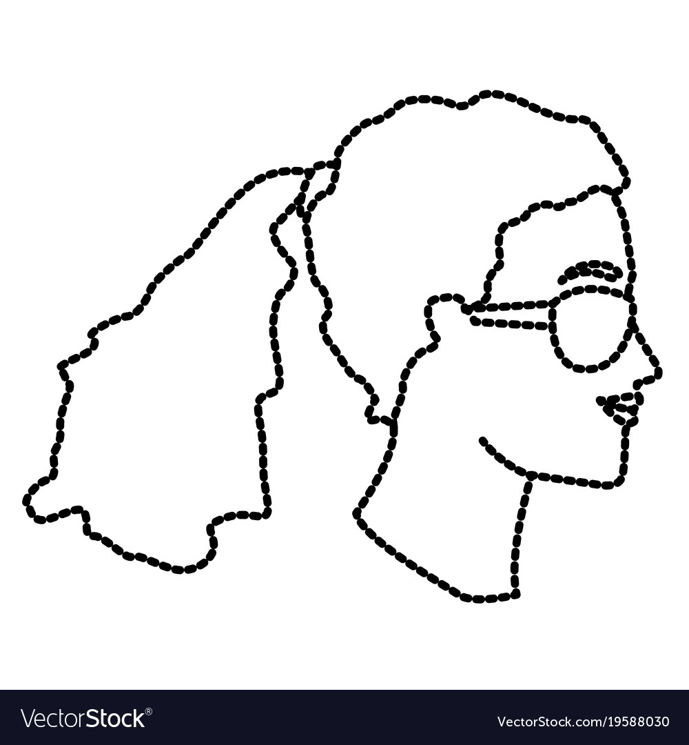 Woman head witn sunglasses