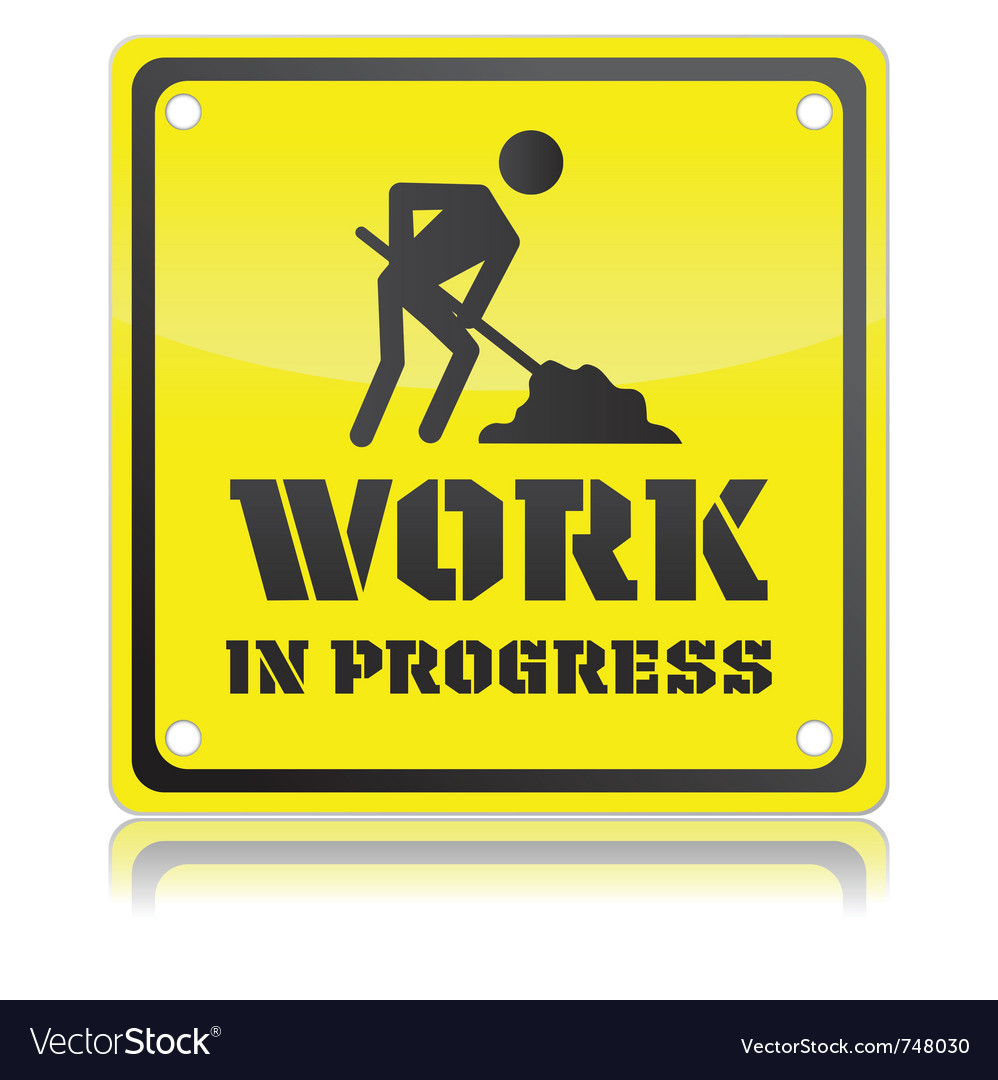 work in progress icon royalty free vector image