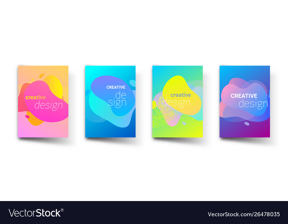 Abstract pattern backgrounds modern liquid color