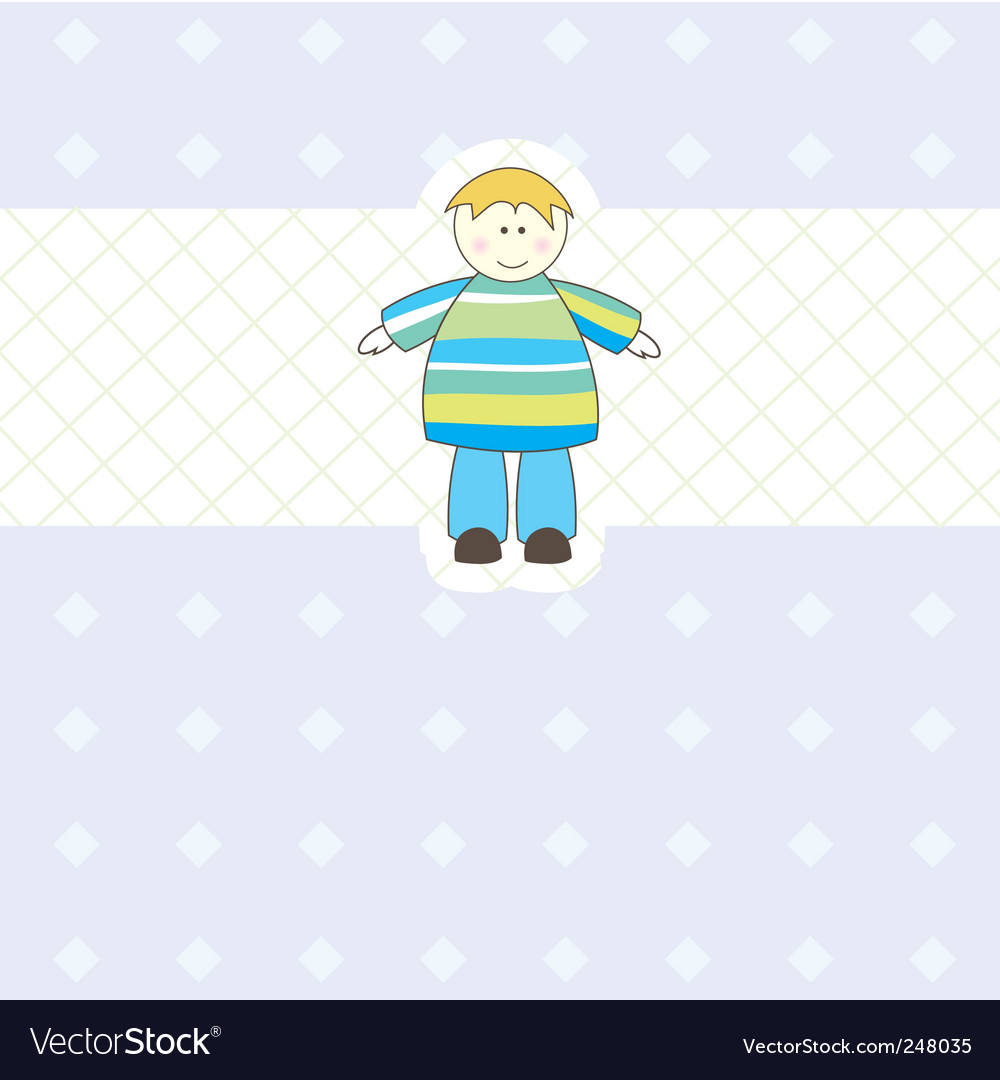 Baby boy arrival card illustration