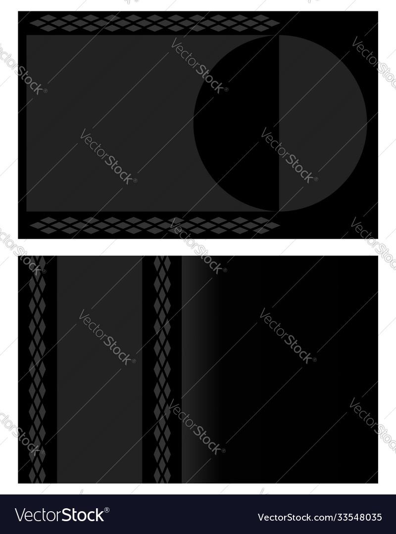 Black grey visiting card background banner